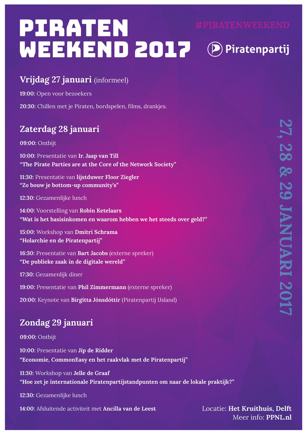 Piratenweekend2017-Programma