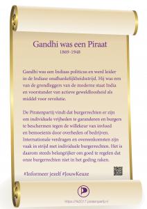 Perkament Gandhi